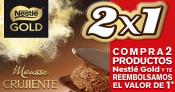 Compra 2 postres Nestle Gold y te reembolsan el importe de 1