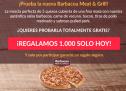 ¡Solo hoy! Telepizza regala 1.000 pizzas Barbacoa Meat & Grill
