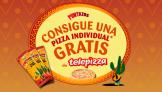 1 Telepizza Individual gratis por 3 paquetes de Puntazos